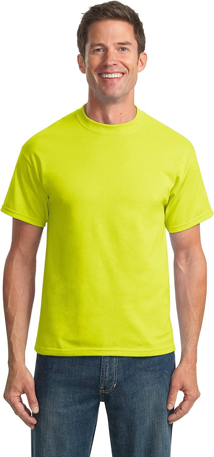 Port & Company Tall 50/50 Cotton/Poly T-Shirts>LT Safety Green PC55T