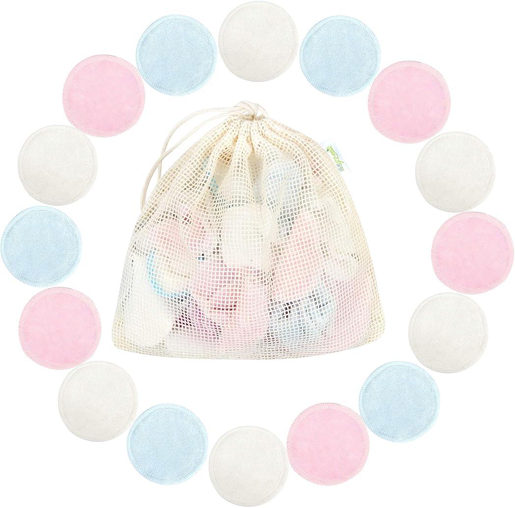 15 Piezas Almohadillas reutilizables de bamb/ú para eliminar el maquillaje con 1 Bolsa de Lavado reutilizables sin productos qu/ímicos para cuidado facial suave toallitas limpias de la cara 3 colores