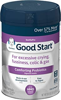 Gerber Good Start Soothe (HMO) Non-GMO Powder Infant Formula, Stage 1, With Iron, 2'-FL HMO and Probiotics for Digestive Health and Immune System Support, 30.6 Ounces