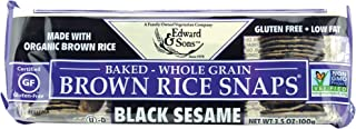 Edward & Sons Brown Rice Snaps Black Sesame with Organic Brown Rice, 3.5 Ounce Packs (Pack of 12)