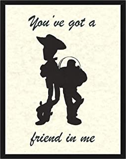 Signature Studios Toy Story Wall Decor Woody and Buzz You've Got a Friend in Me Kids Wall Art 8x10 Print