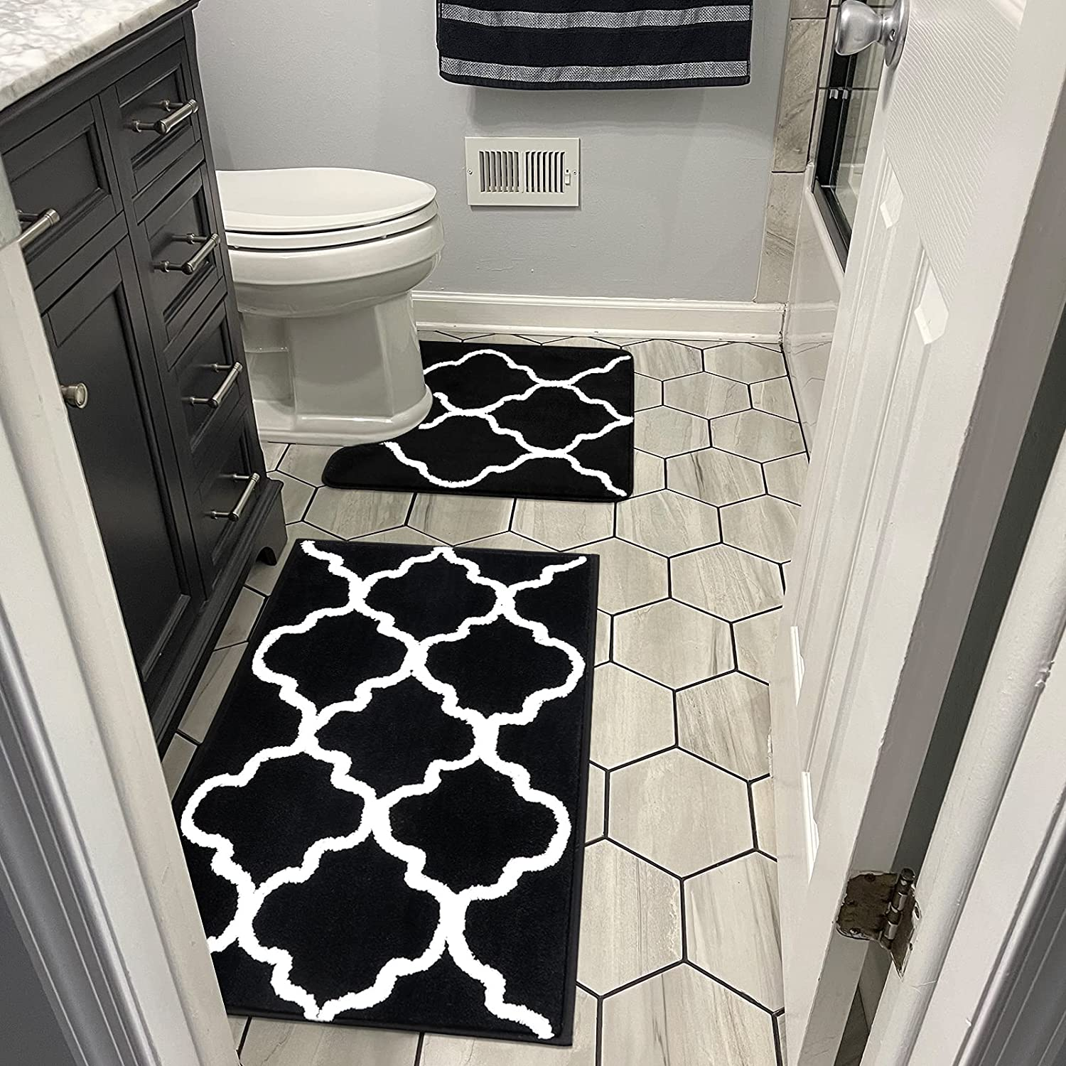 Vaukki 2 Piece Bathroom Limited time trial price Rugs Cont Set Absorbent At the price Luxury