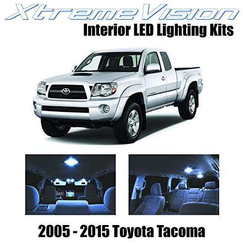 XtremeVision Toyota Tacoma 2005-2015 (7 Pieces) Cool White Premium Interior LED Kit