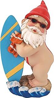 Design Toscano QL59236 Garden Gnome Statue - Shredder Surfer Dude Gnome - Outdoor Garden Gnomes - Funny Lawn Gnome Statue...