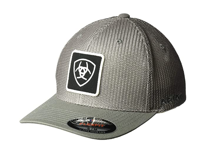 Ariat   Patch Logo Flex Fit Cap (Navy/Grey) Caps