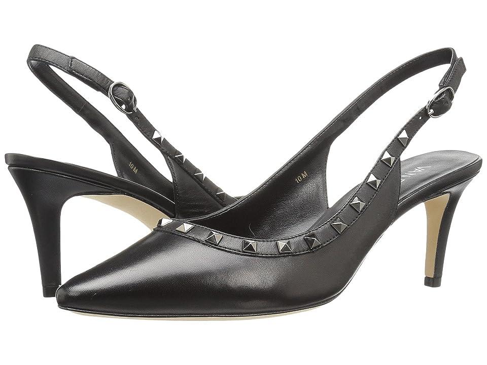 Vaneli Harriet (Black Nappa/Gunmetal Trim) High Heels