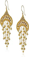 product image for Miguel Ases Small Topaz Hydro-Quartz Crescent Dangle Drop Earrings