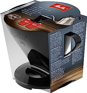 Melitta kaffehållare för filterpåsar, kaffefilter 1 x 4 standard, plast, svart, 217564