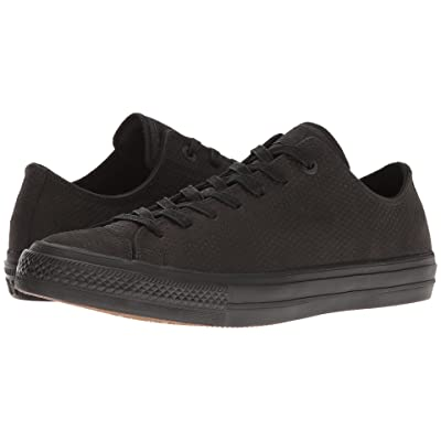 Converse Chuck Taylor(r) All Star(r) II Mono Lux Leather Ox (Black/Black/Gum) Classic Shoes