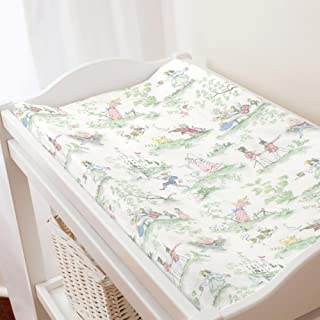 Carousel Designs Nursery Rhyme Toile Changing Pad Cover