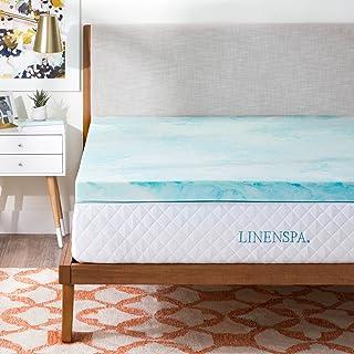 Linenspa 3 Inch Gel Swirl Memory Foam Topper - Queen,