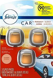 Febreze Car Vent Clip Air Freshener, Hawaiian Aloha, 0.037 Pound