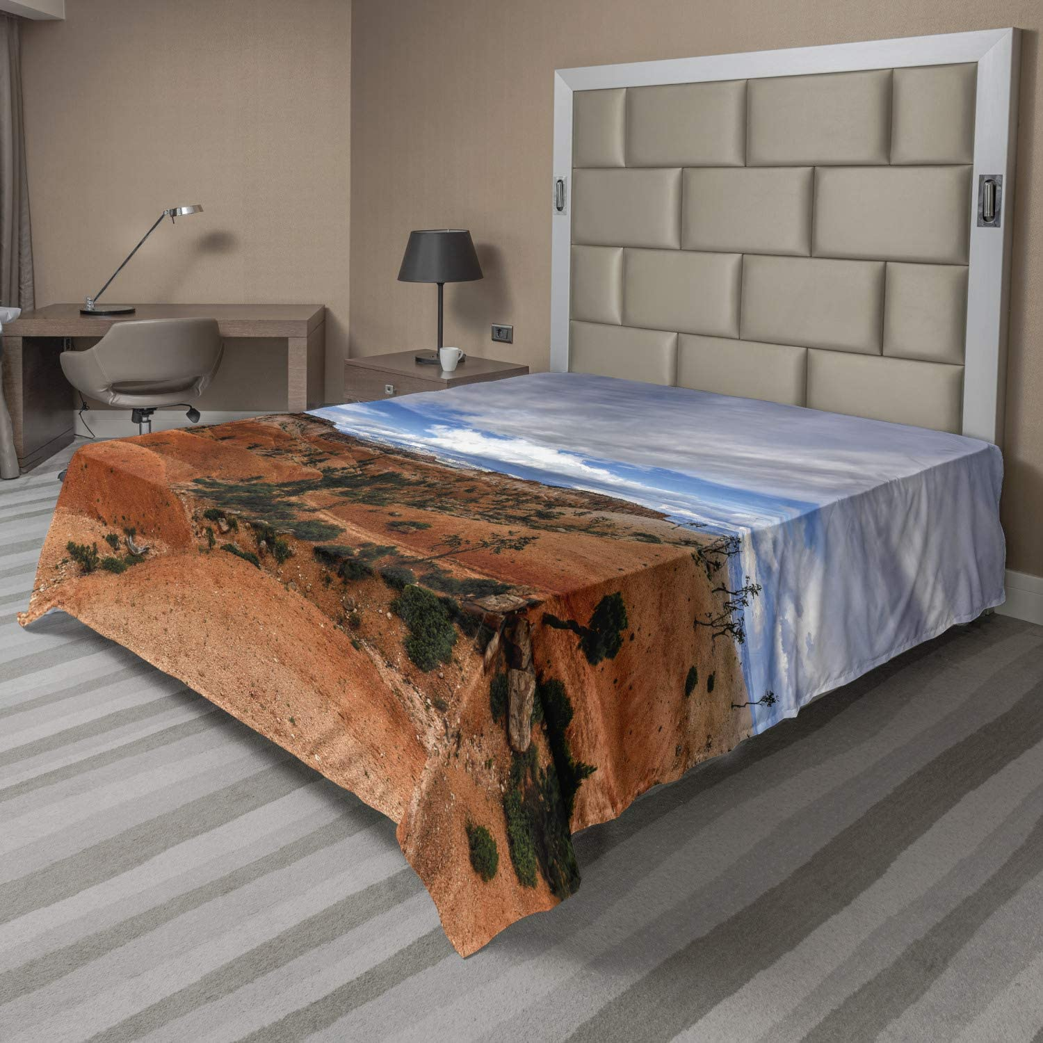 Ambesonne Canyon Flat Sheet The Utah Amphitheater National P in store Beauty products