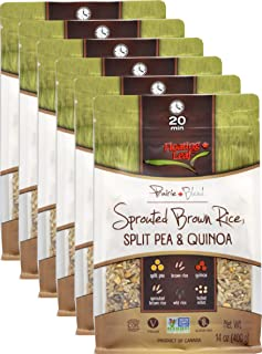 Floating Leaf Fine Foods - Sprouted Brown Rice, Split Pea and Quinoa Blend - Case of 6 x 14 ounces - Plant-based, Gluten-Free, Non GMO, and Kosher