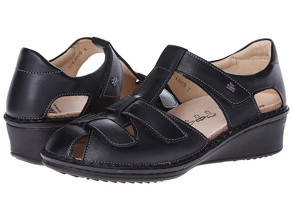 84f67e093acd Finn Comfort Funen (Black Nappa Leather) Women