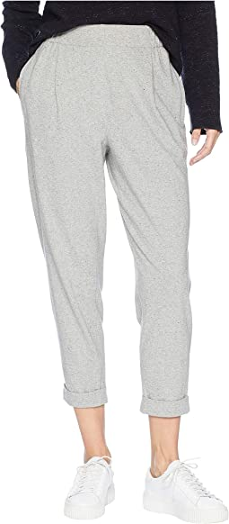 Organic Cotton Speckled Knit Slouchy Ankle Pants