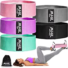 MhIL 5 Resistance Bands - Best Exercise Bands for Women and Men - Thick Elastic Fabric Workout Bands for Working Out Legs,...