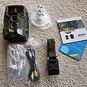 LUXJUMPER Cam/éra de Chasse 1080P Cam/éra de Faune avec Grand Angle 130/° D/étecteur de Mouvement Thermique Cam/éra de gibier /à d/étection de Vision Nocturne Infrarouge 940nm IR LED