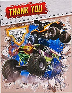 Birthday Express Monster Jam Party Supplies - Thank-You Notes (8)