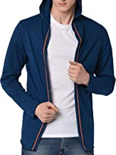 Fenoix Men's Cotton Hooded Cardigan T-Shirt