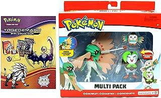 Pokemon Arrow Action Go Evolution Figures 3 Rowlet, Dartrix & Decidueye Bundled with Ready to Battle TOGEDEMARU Poke Mini Collection Card Game Packs