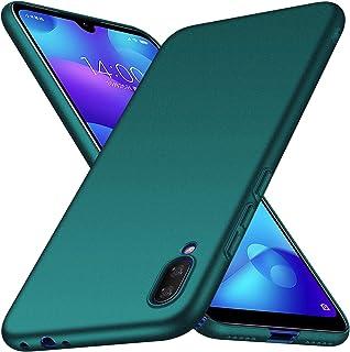 جراب Huawei Y6 Pro 2019، جراب XINKOE صلب نحيف للغاية [مضاد للخدش] [ممتص للصدمات] [متين] لهاتف Huawei Y6 Pro 2019 - أسود fo...