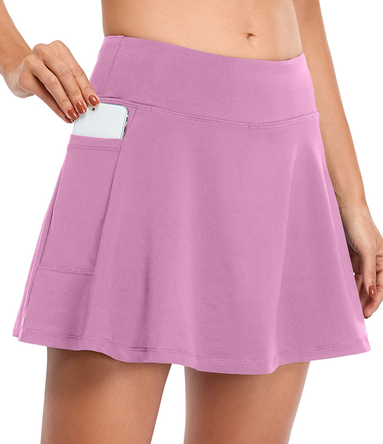Fulbelle Womens Athletic Tennis Sacramento Mall Skirts with Skorts Elastic Free Shipping Cheap Bargain Gift Golf