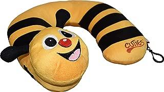 Cuties And Pals Kid's Travel Neck Pillow - Car Seat Pillow (Yellow Bumble Bee)