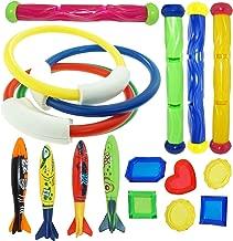 JOYIN Underwater Swimming/Diving Pool Toy Rings (4 pcs) , Diving Sticks (4 pcs) and toypedo bandits(4 pcs) with Under Water Treasures Gift Set Bundle