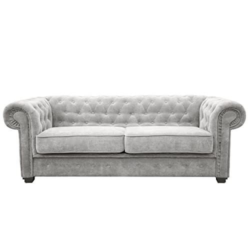 Grey Chesterfield Sofa Amazon Co Uk