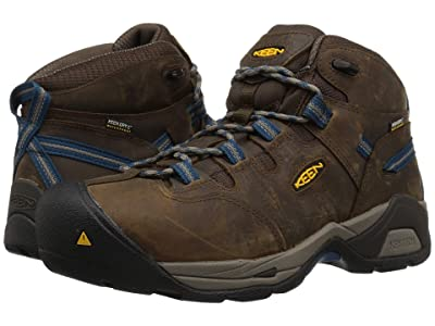 Keen Utility Detroit XT Mid Steel Toe Waterproof (Cascade Brown/Orion Blue) Men
