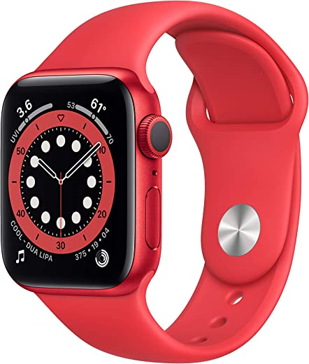 New AppleWatch Series 6 (GPS, 40mm) - Product(RED) - Aluminum Case with Product(RED) - Sport Band