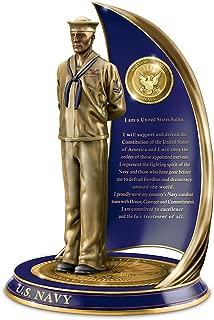 The Bradford Exchange Navy Spirit Sailor Sculpture with Sailor's Creed