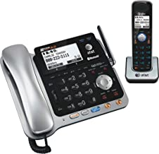 $128 » AT&T TL86109 DECT 6.0 2-Line Expandable Corded/Cordless Phone with Bluetooth Connect to Cell, Answering System and Base Sp...