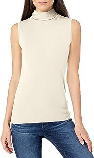 Lark & Ro Rayon Span - Top de Punto sin Mangas Camiseta para Mujer