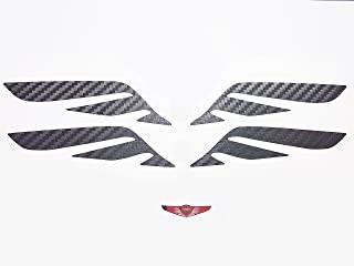 Hood Trunk Wing Emblem Carbon Sticker 2PC & Wing Metal Sticker For Hyundai Genesis G80