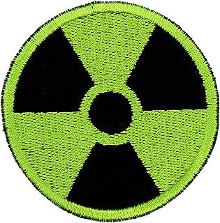 Gamma Radiation Patch Iron On Applique - Black, Bright Green, 2.5