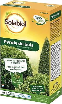 Solabiol SOPYRAL15 Pyrale du Buis Bacillus - Traitement Choc - Efficace sur Larves et Chenilles | Utilisable en Agriculture Biologique