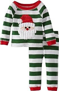 Baby Boys' Santa Lounge Set, Green Stripe, 6-9 Months