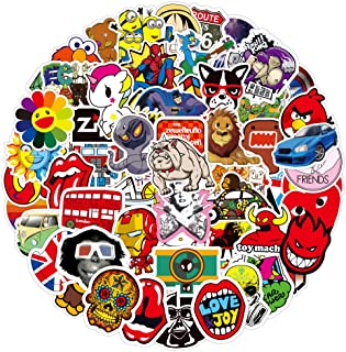 Laptop Stickers for Skateboard Guitar Travel Case Graffiti Sticker Door Luggage Car Bike Bicycle Waterproof (Collection C ...