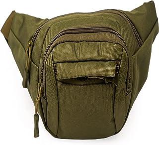 Tactical Waist Bag for Men Outdoor Running Fanny Bag Packs, Multifunctional Zipper Pockets Adjustable Belt, Water Resistan...