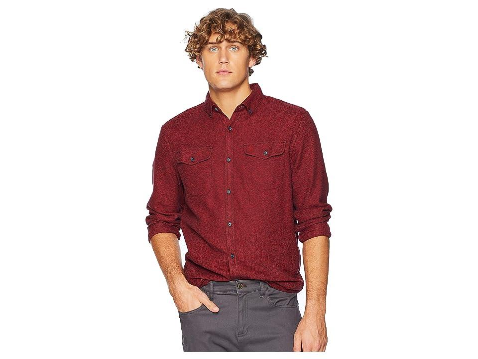 Original Penguin Long Sleeve Jasper Flannel Stretch Shirt (Samba) Men