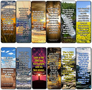 Popular Prayers and Bible Scriptures on Strength Bookmarks - 12 Pack