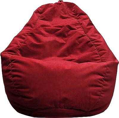 Gold Medal Bean Bags Gold Medal Microsuede Bean Bag, Medium, Cardinal Red