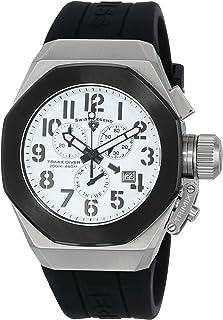 Men's 10542-02-BB Trimix Diver Chronograph White Dial Black Silicone Watch
