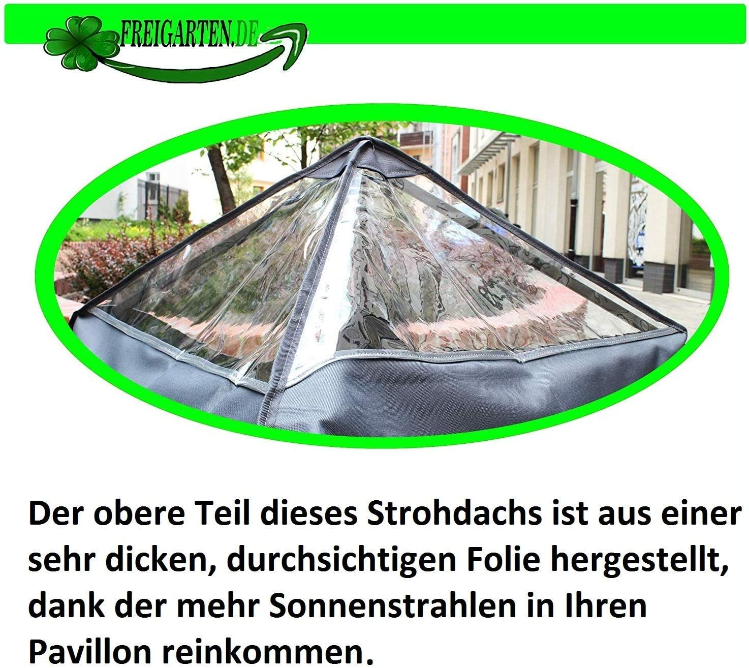. 3 x 3 metres black extra strong model 2 material: Panama PCV soft waterproof freigarten.de Replacement roof for gazebo 370 g//m/²