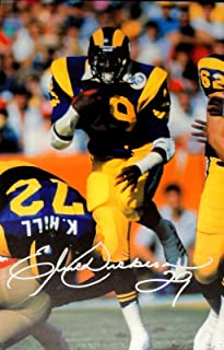 Eric Dickerson Hand Signed Autographed 20x30 Stretched Canvas Los Angeles  Rams 3f7257fde