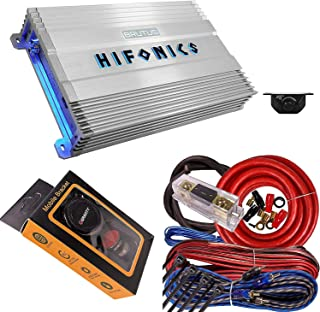 Hifonics BG-1900.1D Brutus Gamma 1900 Watt Mono Car Audio Amplifier Super Class D with 4 Gauge Red Amplifier Installation ... photo