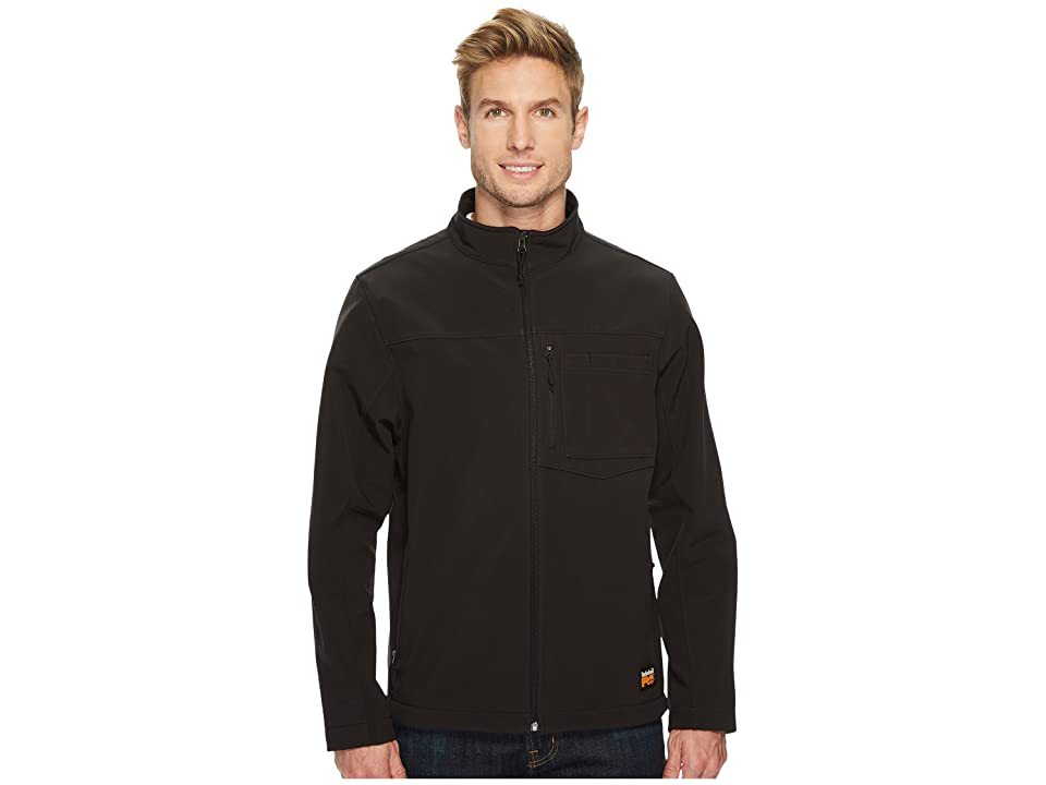 Timberland PRO Power Zip Windproof Softshell Jacket (Jet Black) Men