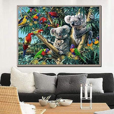 30x40cm Kit Peinture Diamant 5D DIY,Peinture par num/éros Koala animal Broderie Strass Croix Arts Craft pour Home D/écoration murale